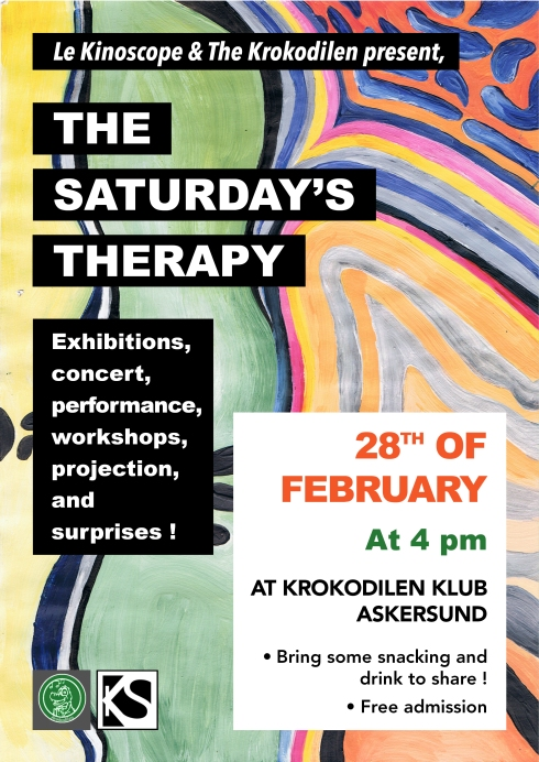 recto affiche Saturday's therapy